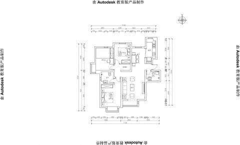 北京简约优雅二居室装修效果图