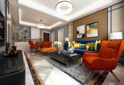 北京现代简约风二居室装修效果图