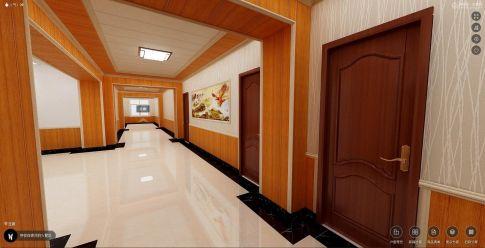 北京中式会所走廊装修效果图