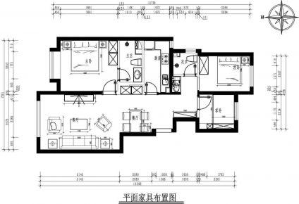 北京优雅简约现代风二居装修效果图