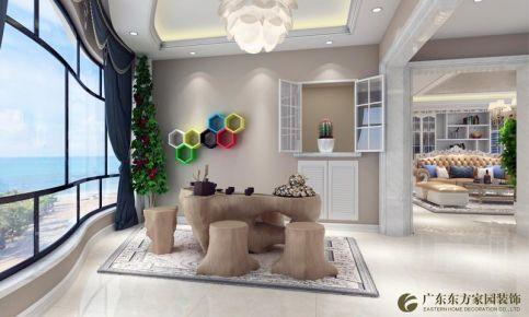 惠州园洲花园欧式奢华三居室装修效果图