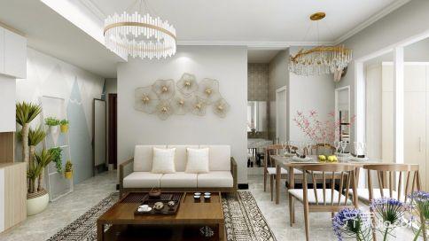 广州简约二居装修,年轻人最喜欢的轻奢质感