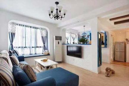 昆明地中海风格二居室装修效果图