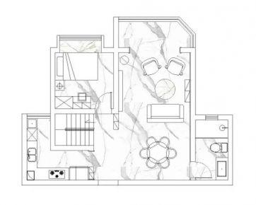 广州美式二居室装修,自由大方,轻奢高档
