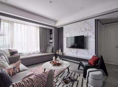 广州灰色系现代简约风格三居装修,简约大方却不简单!