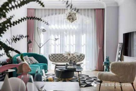 广州创意混搭三居装修,自然细腻的气质品味之家!