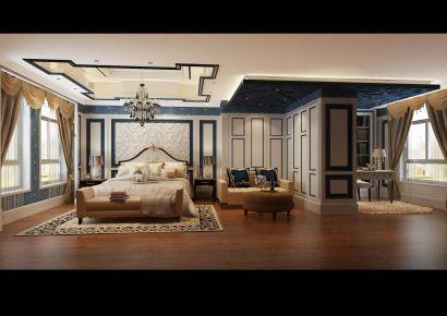 南京溧水别墅现代奢华装修,恢弘大气的家装空间