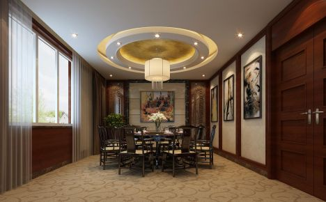 南京传统韵味十足的中式别墅装修,温文尔雅的品质空间