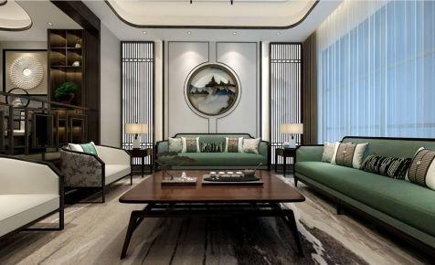 深圳新中式風格別墅裝修效果圖,秀麗華美中的氣勢恢宏