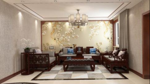 太原独具韵味的中式风格四居室装修效果图