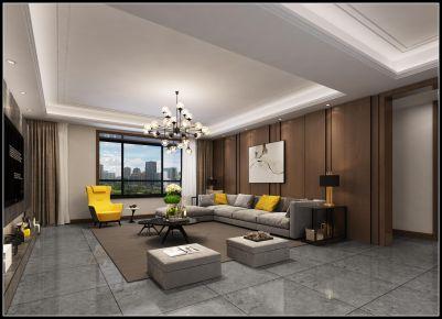 太原绿景未来城现代风三居室装修效果图