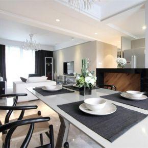 福州120平现代美式风格三居室装修效果图