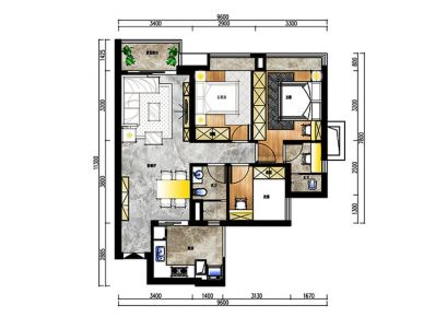 广州北欧风三居装修,简单的色彩搭配出随性的生活