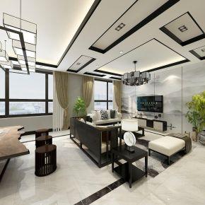 重庆典雅新中式风格别墅装修设计案例