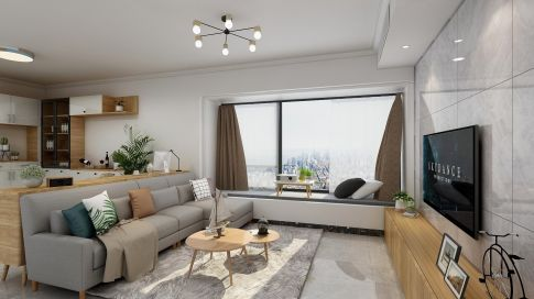 广州简约风三居装修,优雅与舒适的典范之家!