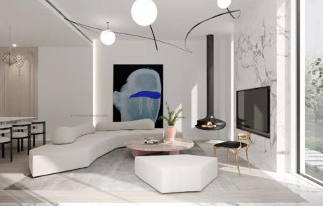 泉州轻奢质感现代风格别墅装修案例展示