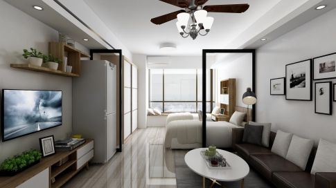 广州简约风小户型公寓装修,小空间大精彩
