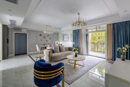 重庆俏业家装饰同景国际3房现代美式风格装修效果图