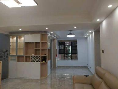 海口文昌义方家园三居简约风装修效果图,淡淡的灰白色搭配,温馨浪漫
