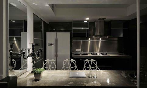 广州工业风格二居室装修效果图,时尚复古的工装风格