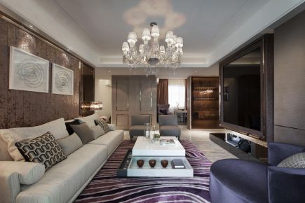 广州雅致的轻奢风格三室装修,彰显你高品质的生活