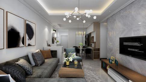 广州现代简约三居室装修,浪漫温馨品质之家