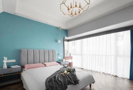 宜昌恒大山水城现代美式三居装修效果图