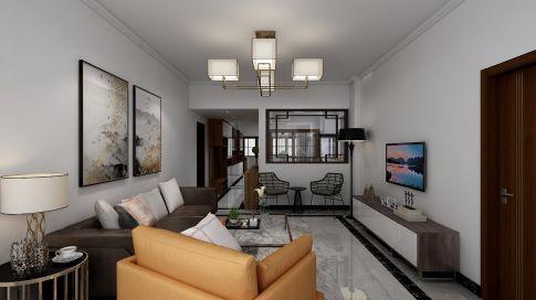 广州二居室装修案例,现代风的中式韵味