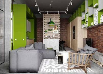 杭州創一居裝飾長樹新區工業風格小戶型裝修效果圖