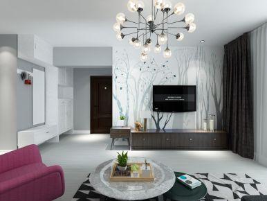 福州110㎡极简黑白灰三居装修,每一处都是理想的设计!