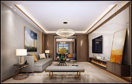 太原颐和天成现代轻奢四居室装修效果图