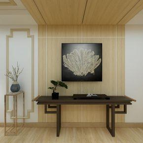 南京红姆装饰120平新中式风格三居装修效果图
