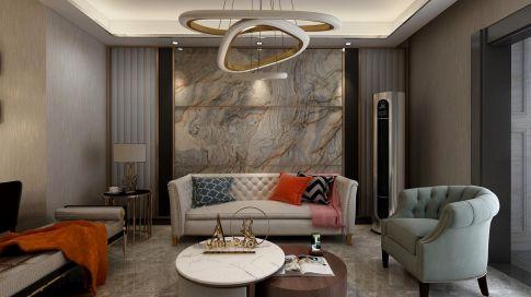 南京红姆装饰90平轻奢现代风格二居室装修效果图