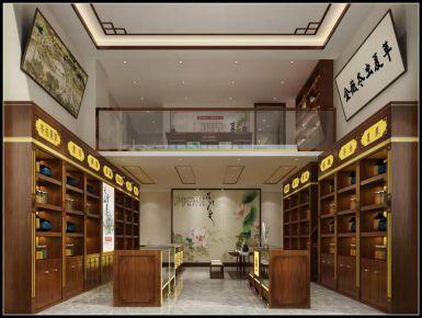 西寧金薇蟲草中式風格商鋪設計