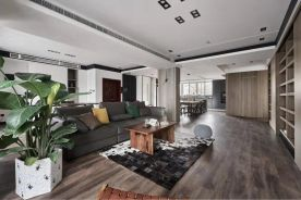 南通現代灰色質感三居室裝修效果圖