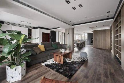南通现代灰色质感三居室装修效果图