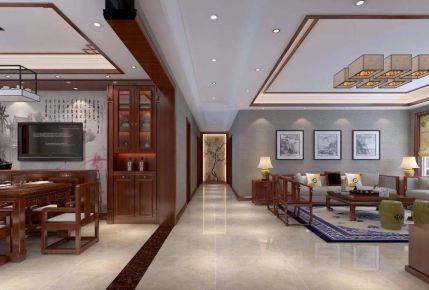 太原古典雅致新中式三居裝修效果圖展示