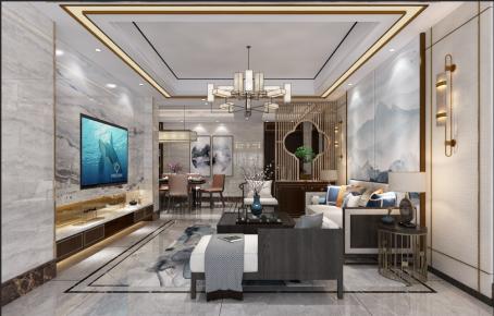 金華新中式三居室裝修,傳統韻味與現代奢華的碰撞!