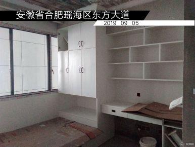 合肥現代簡約風格三居室裝修現場施工圖
