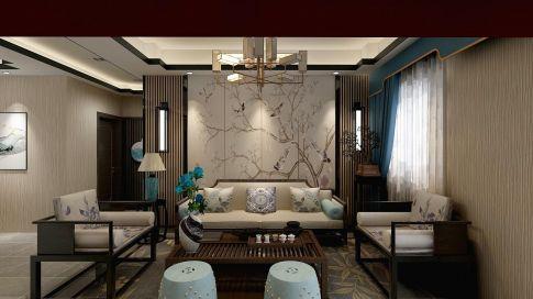 南京红姆装饰250平古典新中式风格四居室装修案例