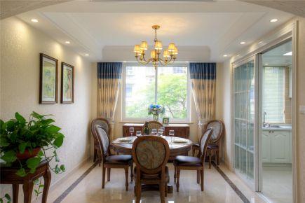 福州150平美式田园风格三居室装修效果图