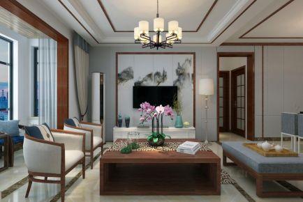 福州130平古典雅致新中式三居裝修效果圖