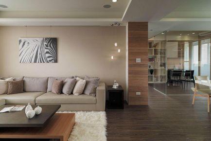 福州100㎡现代简约风格三居室装修效果图展示