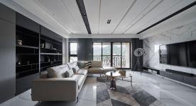 重慶【維享家裝飾】140平四居室裝修,爵士白點綴時尚新家
