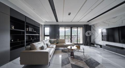 重庆【维享家装饰】140平四居室装修,爵士白点缀时尚新家