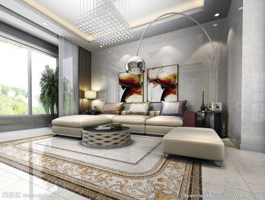 海域官邸中式风格三居室设计