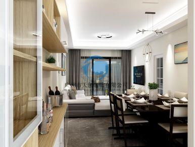 广州现代简约三居室装修效果图