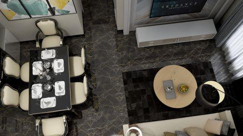 广州现代轻奢风格二居装修,生活也可以如此精致!