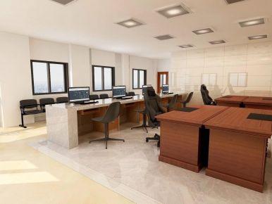 广州居委会办公室现代简约风格装修效果图