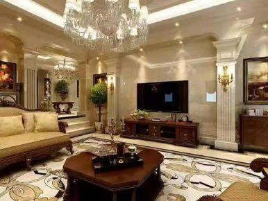 深圳复古欧式风格四居室装修效果图展示